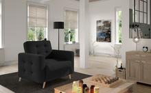 Fotel pikowany ASGARD 1F - tkanina Sawana 14