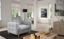 Fotel pikowany ASGARD 1F - tkanina Solid 09