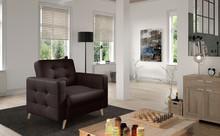 Fotel pikowany ASGARD 1F - tkanina Monolith 29