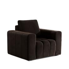 Fotel z szerokimi podłokietnikami LAZARO 1F - tkanina Monolith 29