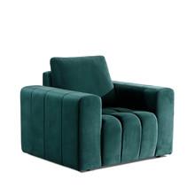 Fotel z szerokimi podłokietnikami LAZARO 1F - tkanina Monolith 37