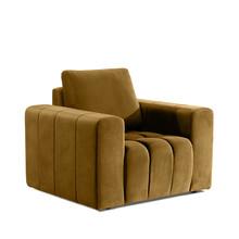 Fotel z szerokimi podłokietnikami LAZARO 1F - tkanina Monolith 48