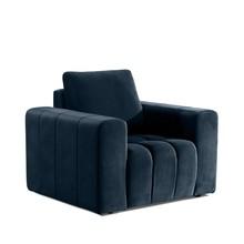 Fotel z szerokimi podłokietnikami LAZARO 1F - tkanina Monolith 77