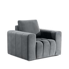 Fotel z szerokimi podłokietnikami LAZARO 1F - tkanina Monolith 84