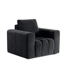 Fotel z szerokimi podłokietnikami LAZARO 1F - tkanina Monolith 97