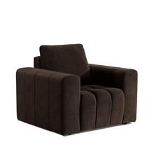 Fotel z szerokimi podłokietnikami LAZARO 1F - tkanina Dora 28