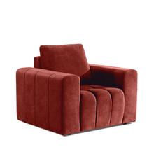 Fotel z szerokimi podłokietnikami LAZARO 1F - tkanina Dora 63