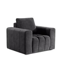 Fotel z szerokimi podłokietnikami LAZARO 1F - tkanina Dora 95