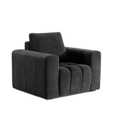 Fotel z szerokimi podłokietnikami LAZARO 1F - tkanina Dora 96