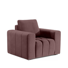 Fotel z szerokimi podłokietnikami LAZARO 1F - tkanina Matt Velvet 63