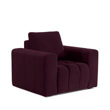 Fotel z szerokimi podłokietnikami LAZARO 1F - tkanina Matt Velvet 68