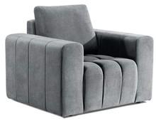 Fotel z szerokimi podłokietnikami LAZARO 1F - tkanina Grande 81