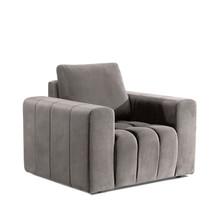 Fotel z szerokimi podłokietnikami LAZARO 1F - tkanina Paros 02