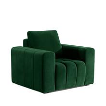 Fotel z szerokimi podłokietnikami LAZARO 1F - tkanina Kronos 19