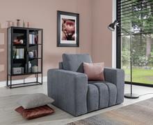 Fotel z szerokimi podłokietnikami LAZARO 1F - tkanina Primo 89