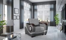 Fotel tapicerowany PUERTO 1F - tkanina Sawana 21/Soft 29