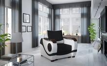 Fotel tapicerowany PUERTO 1F - tkanina Sawana 14/Soft 17