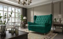 Sofa pikowana 2-osobowa AROS 2F - tkanina Monolith 37