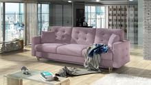 Sofa rozkładana pikowana ASGARD 3F - tkanina Soro 61