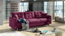 Sofa rozkładana pikowana ASGARD 3F - tkanina Matt Velvet 68
