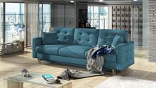 Sofa rozkładana pikowana ASGARD 3F - tkanina Kronos 13
