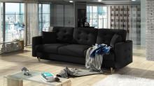 Sofa rozkładana pikowana ASGARD 3F - tkanina Sawana 14