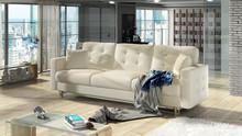 Sofa rozkładana pikowana ASGARD 3F - ekoskóra Soft 33