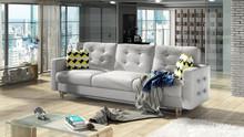 Sofa rozkładana pikowana ASGARD 3F - tkanina Sawana 21/pod. Zigzag 53