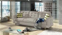 Sofa rozkładana pikowana ASGARD 3F - tkanina Paros 2/pod. Zigzag 53