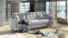 Sofa rozkładana pikowana ASGARD 3F - tkanina Solid 09