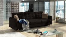 Sofa rozkładana pikowana ASGARD 3F - tkanina Monolith 29/pod. Monolith 09