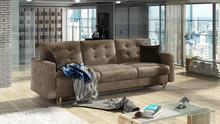 Sofa rozkładana pikowana ASGARD 3F - tkanina Monolith 09/pod. Monolith 29