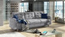Sofa rozkładana pikowana ASGARD 3F - tkanina Monolith 84/pod. Monolith 77