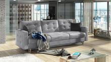 Sofa rozkładana pikowana ASGARD 3F - tkanina Monolith 84/pod. Monolith 97