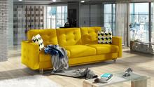 Sofa rozkładana pikowana ASGARD 3F - tkanina Omega 68/pod. Zigzag 53