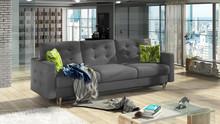 Sofa rozkładana pikowana ASGARD 3F - tkanina Ontario 96/pod. Jungle 32