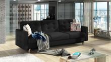 Sofa rozkładana pikowana ASGARD 3F - tkanina Soro 100/pod. Lastrico 2
