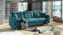 Sofa rozkładana pikowana ASGARD 3F - tkanina Matt Velvet 75