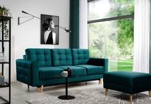 Sofa rozkładana pikowana ASGARD 3F - tkanina Monolith 37