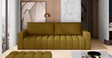 Sofa rozkładana pikowana LAZARO - tkanina Monolith 48