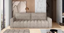 Sofa rozkładana pikowana LAZARO - tkanina Dora 21
