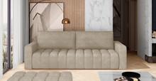 Sofa rozkładana pikowana LAZARO - tkanina Paros 02