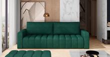 Sofa rozkładana pikowana LAZARO - tkanina Kronos 19