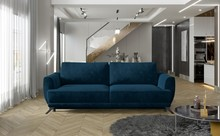 Sofa rozkładana z bokami MEGIS - tkanina Kronos 09
