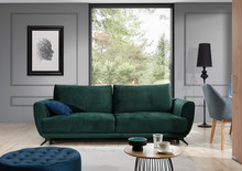 Sofa rozkładana z bokami MEGIS - tkanina Riviera 38