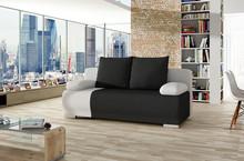 Sofa rozkładana ROMA - tkanina Sawana 14/ ekoskóra Soft 17