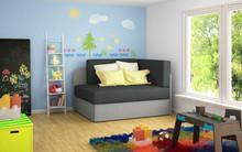 Sofa rozkładana dziecięca ROSA - tkanina Alova 48/Alova 10