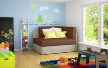 Sofa rozkładana dziecięca ROSA - tkanina Alova 12/Alova 07