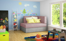 Sofa rozkładana dziecięca ROSA - tkanina Omega 91/Omega 02