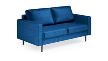 Sofa 3-osobowa VELVET RIVERA SZ064 - granatowy